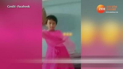 Bhojpuri Song Dance viral video Cute baby girl Dance on Bhojpuri song video goes viral on Social Media SPUP