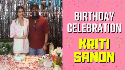 Happy birthday Kriti Sanon: The actress rings in her special day with a grand celebration and opens up about Mimi releasing earlier than planned – watch video