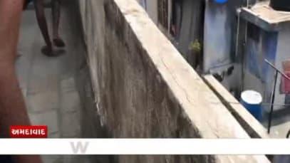 Ahmedabad: Second floor balcony of AMC Engineer Staff Quarters collapses