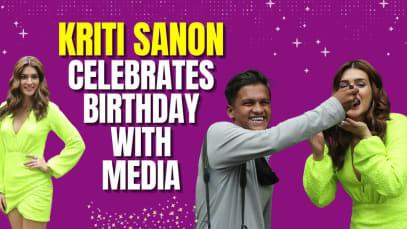 Kriti Sanon ने पैपराजी संग मनाया अपना बर्थडे, देखें जश्न का वीडियो