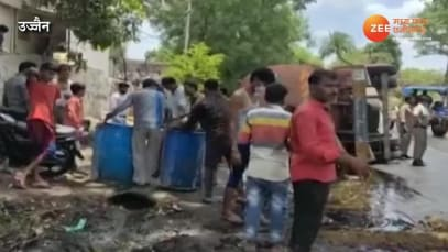 Oil tanker overturned on Shani Jayanti people did such work watch video mpsn