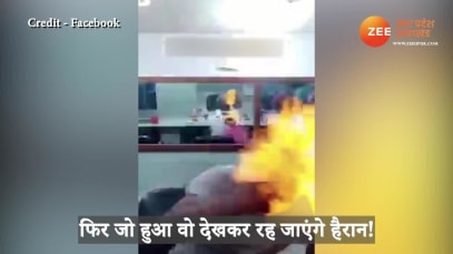 shocking young man caught fire in head during fire cutting viral on social media smup