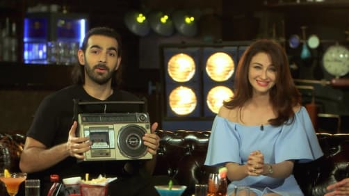 Karan V Grover and Saumya Tandon show their funny sides