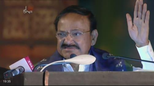 Sadhguru addresses the crowd - Isha Mahashivratri 2020