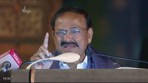 Venkaiah Naidu addresses the crowd - Isha Mahashivratri 2020